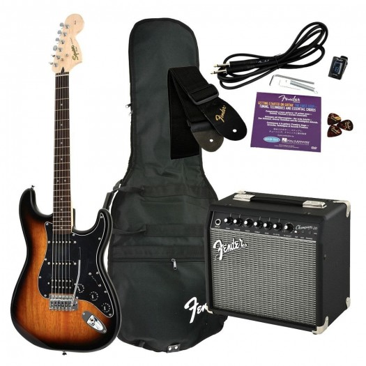 SQUIER AFFINITY SERIES HSS STRATOCASTER GUITAR PACK WITH FRONTMAN 15G AMPLIFIER