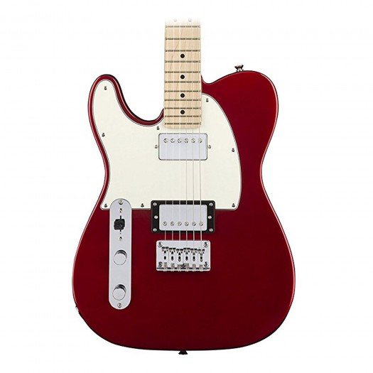 SQUIER CONTEMPORARY HH TELECASTER LEFT-HANDED ELECTRIC GUITAR, MAPLE FINGERBOARD - DARK METALLIC RED