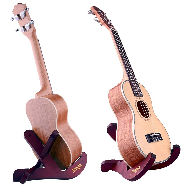 MUGIG UNIVERSAL X-FRAME STYLE WOODEN GUITAR STAND