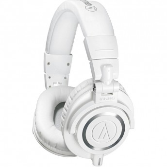 AUDIO-TECHNICA ATH-M50XWH LIMITED EDITION CLOSED-BACK STUDIO HEADPHONES WHITE