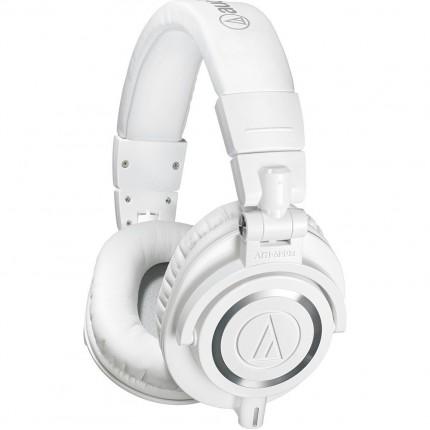AUDIO-TECHNICA ATH-M50XWH LIMITED EDITION CLOSED-BACK STUDIO HEADPHONES WHITE