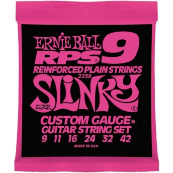 ERNIE BALL 2239 RPS SUPER SLINKY NICKEL WOUND ELECTRIC GUITAR STRINGS 09-42