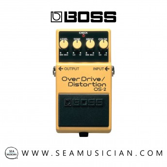 BOSS OS-2 OVERDRIVE/DISTORTION GUITAR PEDAL (OS2 / OS 2)
