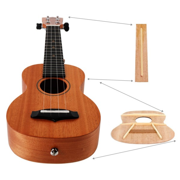 """*CLEARANCE* HANKEY KUS25D 21"""" SOLID TOP SOPRANO UKULELE WITH PADDED BAG"""