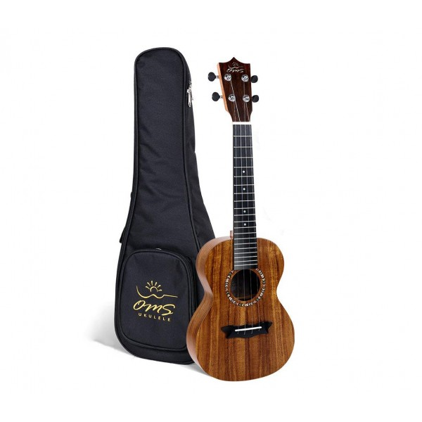 OMS MUS04 SOPRANO UKULELE KOA TOP WITH PADDED BAG (MUS 04 / MUS-04)