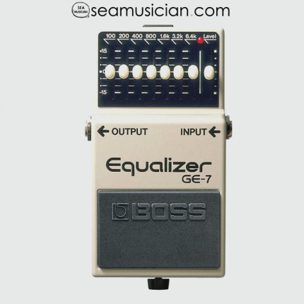 BOSS GE7 EQUALIZER GUITAR PEDAL WITH PATCH CABLE