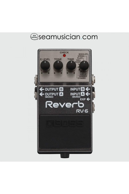 BOSS RV-6 REVERB GUITAR PEDAL (RV6 / RV 6)