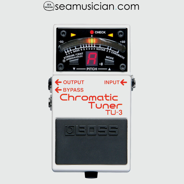 BOSS TUNER TU 3 PEDAL CHROMATIC WITH PATCH CABLE