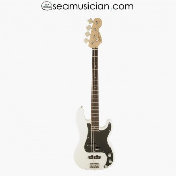 SQUIER AFFINITY PRECISION PJ BASS GUITAR, LAUREL FINGERBOARD, OLYMPIC WHITE