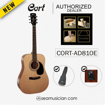 CORT AD-810E/ OPEN CORE ACOUSTIC GUITAR WITH EQ AND BAG