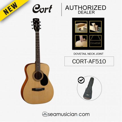 CORT AF-510/ OPEN CORE ACOUSTIC GUITAR WITH BAG