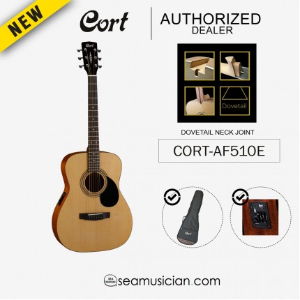 CORT AF-510E/ OPEN CORE ACOUSTIC GUITAR WITH EQ AND BAG