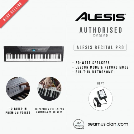 ALESIS RECITAL KEY PRO 88-KEY HAM- ACTION DIGITAL PIANO