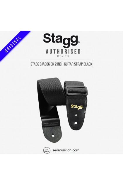 STAGG BJA006 BK 2INCH GUITAR STRAP BLACK
