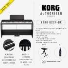 KORG DIGITAL PIANO B2SP-BK 88-KEY BLACK WITH FREE KEYBOARD BENCH AND MUSIC NOMAD M131 (KORGB2SP-BK)