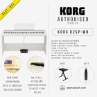KORG DIGITAL PIANO B2SP-WH 88-KEY WHITE WITH FREE KEYBOARD BENCH AND MUSIC NOMAD M131 (KORGB2SP-WH)