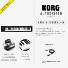 KORG MICROKEY2 49-KEYS USB POWERED COMPACT MIDI KEYBOARD (KORG-MICROKEY2-49)