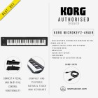 KORG MICROKEY2 49-KEYS AIR USB POWERED COMPACT MIDI KEYBOARD (KORG-MICROKEY2-49AIR)