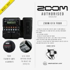 ZOOM G1X FOUR MULTI EFFECT GUITAR PEDAL WITH AD16 POWER SUPPLY (ZOOM-G1XFOUR)