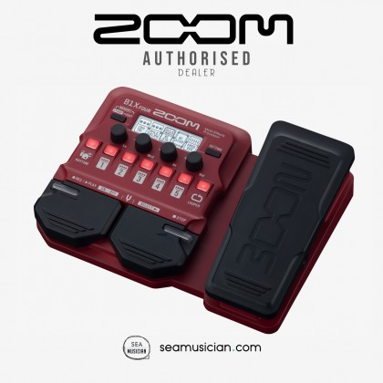 ZOOM B1X FOUR BASS MULTI-EFFECTS PROCESSORS EFFECT PEDAL WITH EXPRESSION PEDAL