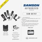 SAMSON 7-PIECE DRUM MICROPHONE KIT WITH CASE (SAM-DK707)