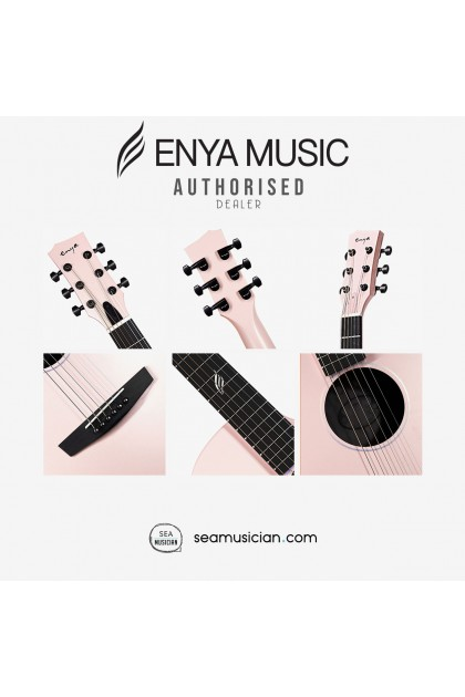 ENYA NOVA G SERIES PINK ACOUSTIC GUITAR PACK WITH BAG, CAPO, STRING, STRAP (ENY-NOVAG PK-P)