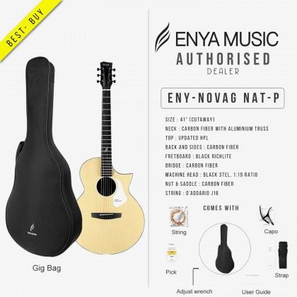 ENYA NOVA G SERIES NATURAL ACOUSTIC GUITAR PACK WITH BAG, CAPO, STRING, STRAP (ENY-NOVAG NAT-P)