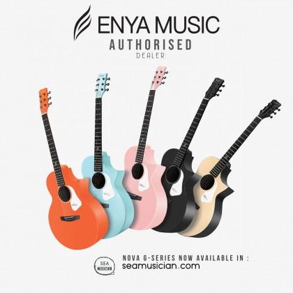 ENYA NOVA G SERIES ORANGE ACOUSTIC GUITAR PACK WITH BAG, CAPO, STRING, STRAP (ENY-NOVAG OR-P)