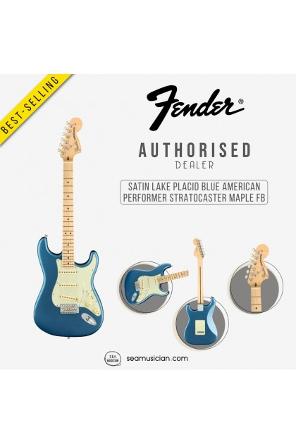 FENDER AMERICAN PERFORMER STRATOCASTER ELECTRIC GUITAR WITH MAPLE FB  0114912302 SATIN LAKE PLACID BLUE (SEAMUSICIAN)