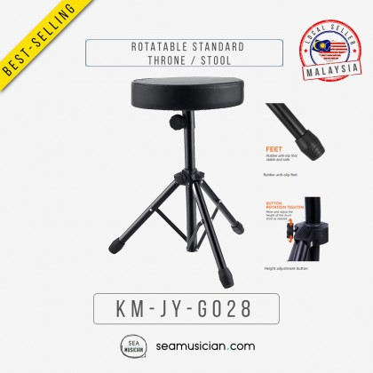 ROTATABLE STANDARD THRONE / STOOL SEAT (DRUM/ KEYBOARD/ GUITARS SET/ SEAMUSICIAN)