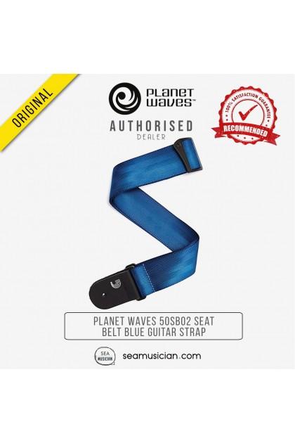 PLANET WAVES 50SB02 50 MM SEAT BELT GUITAR STRAP BLUE (SEAMUSICIAN)