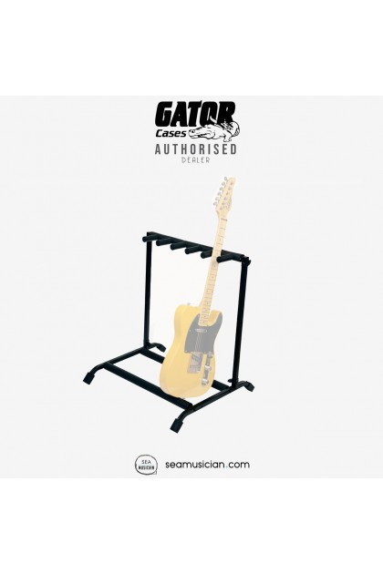 GATOR ROK-IT RI-GTR-RACK5 MULTI GUITAR STAND RACK WITH FOLDING DESIGN FOR ELECTRIC OR ACOUSTIC GUITARS