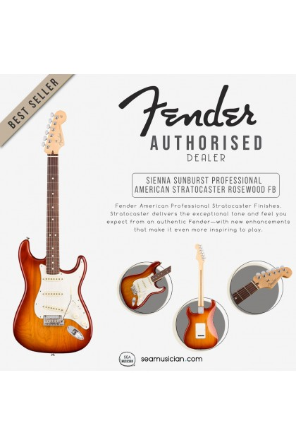 FENDER AMERICAN PROFESSIONAL STRATOCASTER ELECTRIC GUITAR, ROSEWOOD FINGERBOARD 0113010747, SIENNA SUNBURST