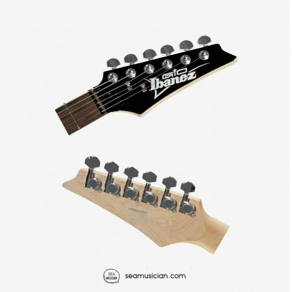 IBANEZ GIO SERIES GSA60 ELECTRIC GUITAR WITH TREATED NEW ZEALAND FINGERBOARD WHITE DOT INLAY, SUNBURST BROWN