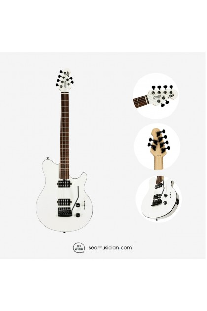 STERLING AXIS SUPER SPORT ELECTRIC GUITAR JATOBA FINGERBOARD RAX3S WH, WHITE