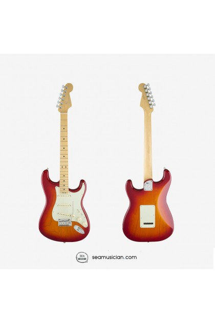 FENDER AMERICAN ELITE STRATOCASTER ELECTRIC GUITAR, MAPLE FINGERBOARD 0114002731, AGED CHERRY BURST