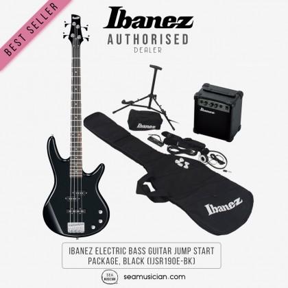 IBANEZ ELECTRIC BASS GUITAR JUMP START PACKAGE, BLACK (IJSR190E-BK)