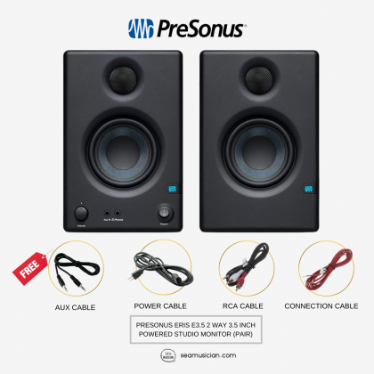 PRESONUS ERIS E3.5 2 WAY 3.5 INCH POWERED STUDIO MONITOR (PAIR)
