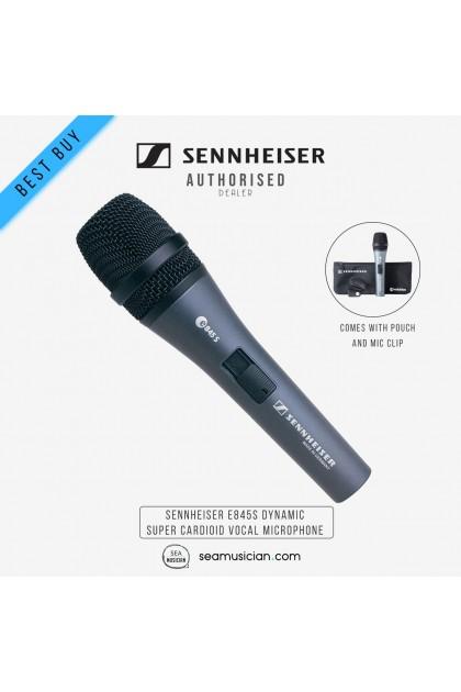SENNHEISER E845S DYNAMIC SUPER CARDIOID VOCAL MICROPHONE
