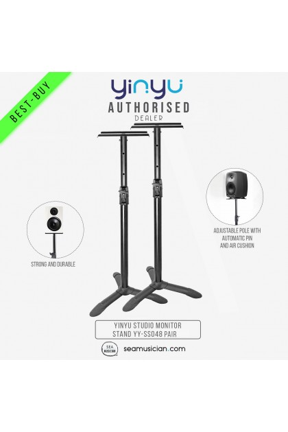 YINYU ADJUSTABLE STUDIO MONITOR SPEAKER STAND PAIR (RECORDING MONITOR STAND/ ADJUSTABLE HEIGHT/ YY-SS048)