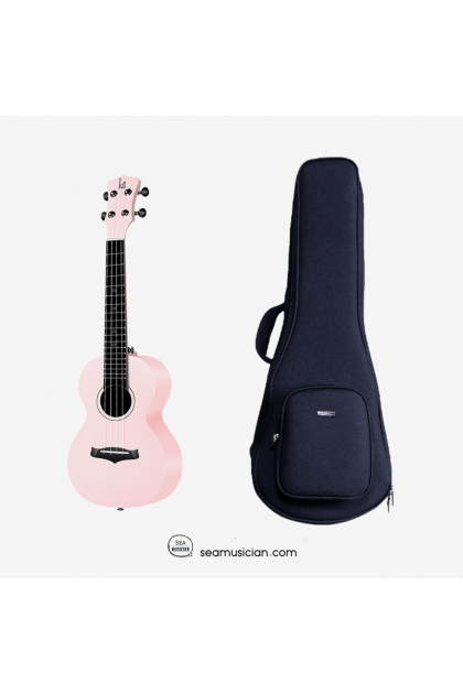 KAKA 23IN CONCERT UKULELE KUC-25D PINK WITH BAG AFRICAN MAHOGANY