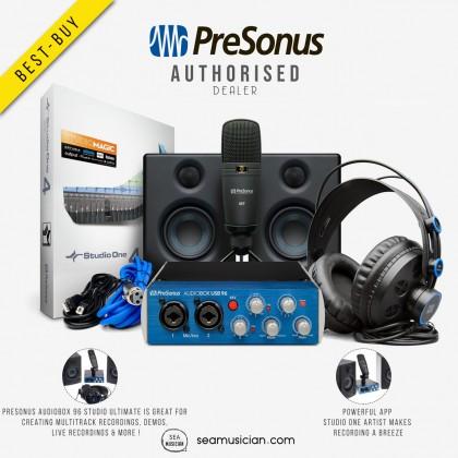 PRESONUS AUDIOBOX 96 USB  STUDIO RECORDING ULTIMATE BUNDLE