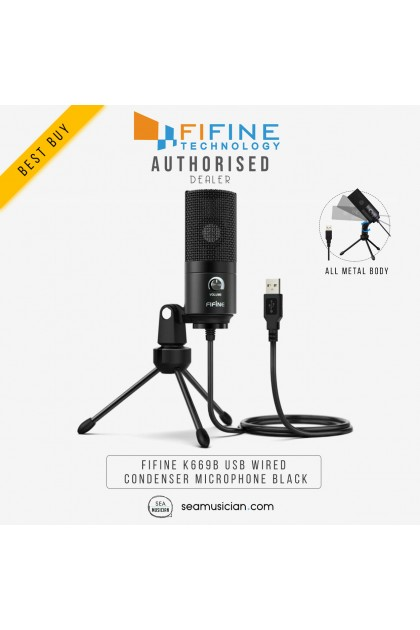 FIFINE K669B USB WIRED CONDENSER MICROPHONE BLACK FOR RECORDING
