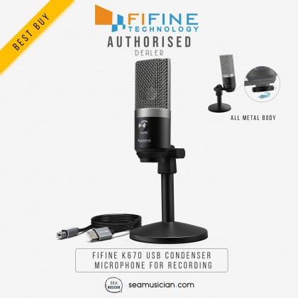 FIFINE K670 USB CONDENSER MICROPHONE FOR RECORDING