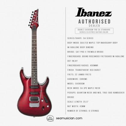 IBANEZ SA360QM-TRB SA STANDARD SERIES ELECTRIC GUITAR COLOR TRANSPARENT RED BURST