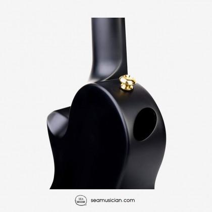 ENYA 23 INCH NOVA U SERIES CONCERT UKULELE BLACK W/EQ (BAG/CAPO/STRAP/STRING)