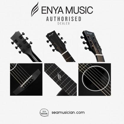ENYA NOVA G SERIES ACOUSTIC GUITAR COLOR BLACK  W/EQ PACK COMES WITH BAG, CAPO, STRING, PICK, STRAP
