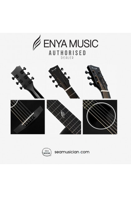 ENYA NOVA G SERIES ACOUSTIC GUITAR COLOR BLACK  W/EQ PACK COMES WITH BAG, CAPO, STRING, PICK, STRAP