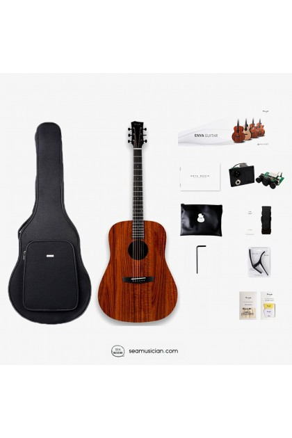 ENYA ED-X1E ACOUSTIC GUITAR 41 ICNH PACKAGE (W/EQ) COMES WITH ACCESSORIES & BAG