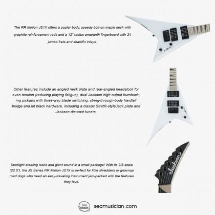 JACKSON JS SERIES RR MINION JS1X ELECTRIC GUITAR MAPLE FB SNOW WHITE